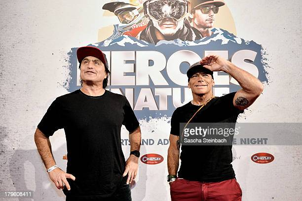 Ross ClarkeJones and Tom Carroll attend the 'Heroes By Nature' Surf Night at Cineplex on September 5 2013 in Muenster Germany