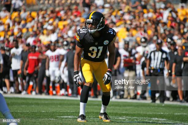 Ross Cockrell of the Pittsburgh Steelers in action during a preseason game against the Atlanta Falcons at Heinz Field on August 20 2017 in Pittsburgh...