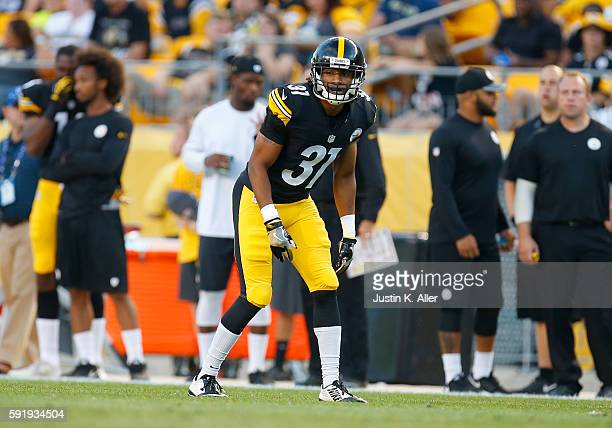Ross Cockrell of the Pittsburgh Steelers in action during the game against the Philadelphia Eagles on August 18 2016 at Heinz Field in Pittsburgh...