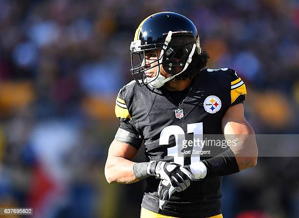 Ross Cockrell of the Pittsburgh Steelers in action during the game against the Cleveland Browns at Heinz Field on January 1 2017 in Pittsburgh...