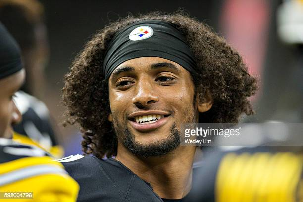 Ross Cockrell of the Pittsburgh Steelers on the sidelines during a preseason game against the New Orleans Saints at MercedesBenz Superdome on August...