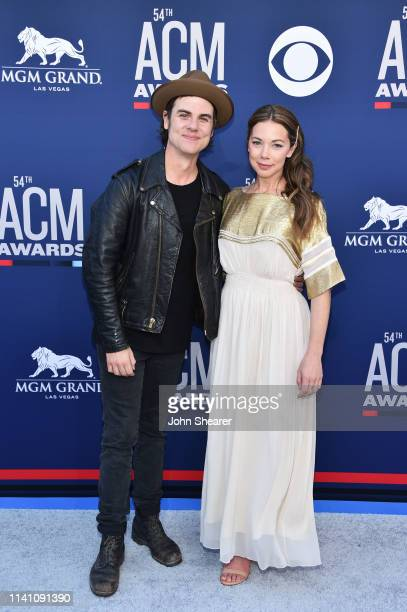 Ross Copperman and Katlin Copperman attend the 54th Academy Of Country Music Awards at MGM Grand Garden Arena on April 07, 2019 in Las Vegas, Nevada.