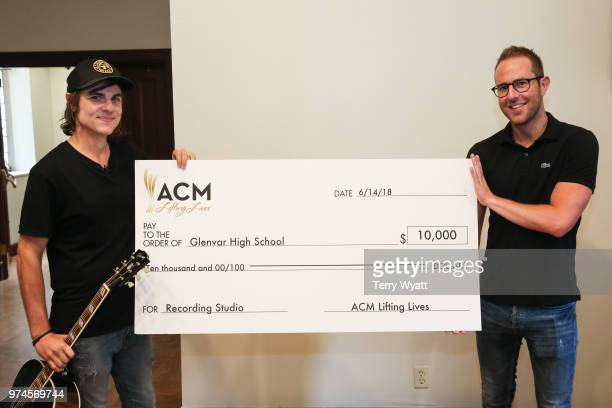 Ross Copperman and Tommy Moore attend the ACM Lifting Lives Music Camp Songwriting Workshop at Vanderbilt University on June 14 2018 in Nashville...