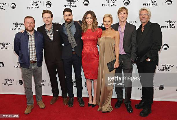 Ross Dinerstein Fran Kranz Adam Goldberg Kat Foster Nicky Whelan Karl Mueller and Harry Hamlin attend the Rebirth Premiere during the 2016 Tribeca...