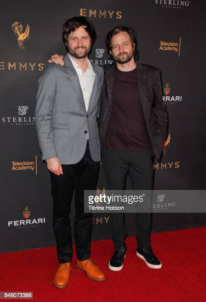Ross Duffer and Matt Duffer attend the Television Academy's Celebration of the nominees for outstanding witing at Saban Media Center on September 11...