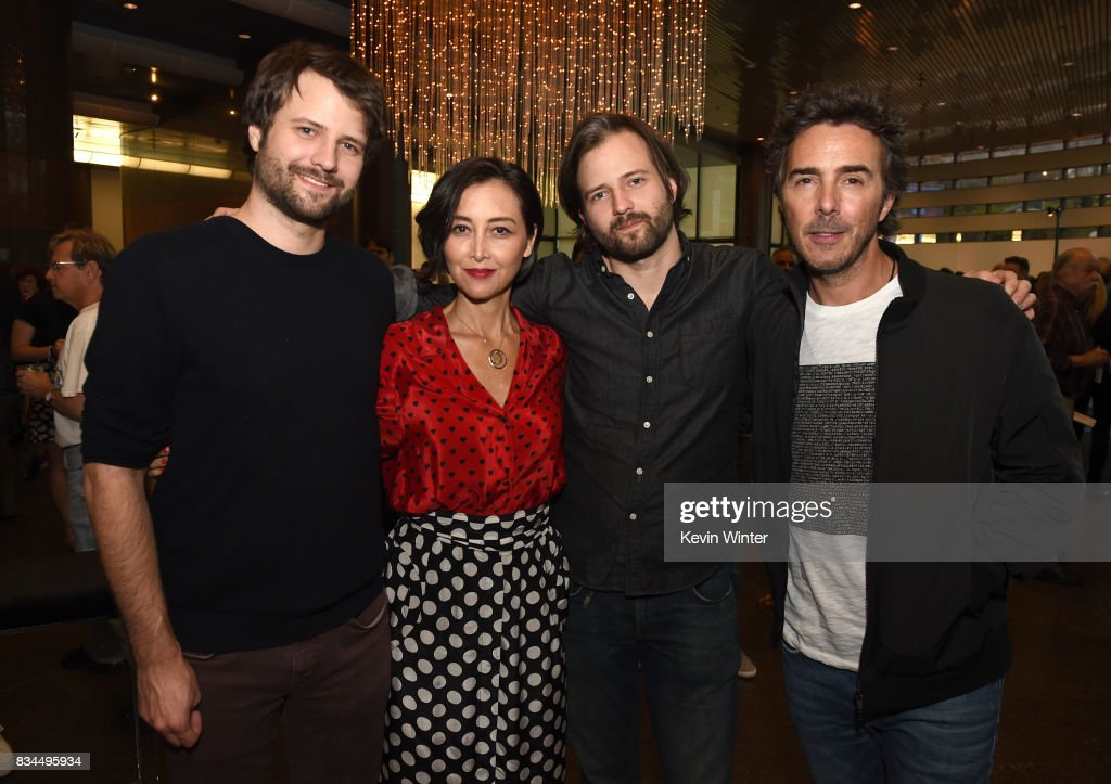 Ross Duffer, creator, writer and executive producer, Carmen Cuba, Casting Director, Matt Duffer, creator, writer and executive producer and Shawn Levy, director and executive producer arrive at a reception and q&a for Netflix's 'Stranger Thing' at the Directors Guild on August 17, 2017 in Los Angeles, California.
