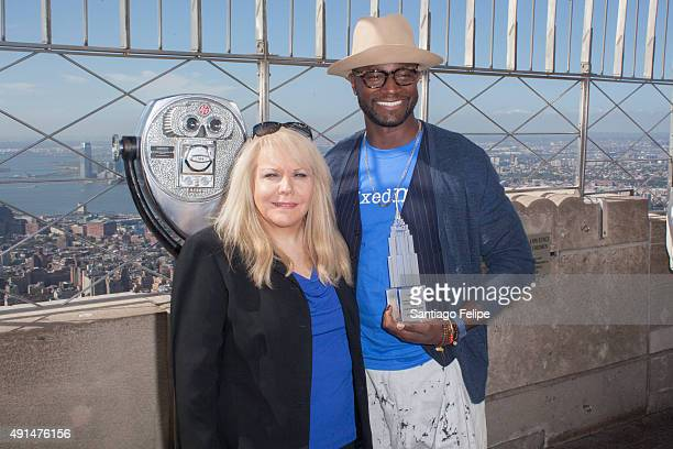 Ross Ellis and Taye Diggs Visit The 'Empire State Building To Kick Off 'STOMP Out Bullying' Campaign at The Empire State Building on October 5 2015...