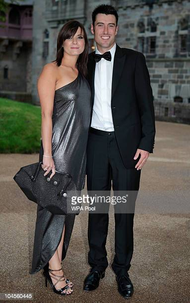 Ross Fisher and Joanne Fisher attend the 2010 Ryder Cup Dinner at Cardiff Castle on September 29 2010 in Cardiff Wales