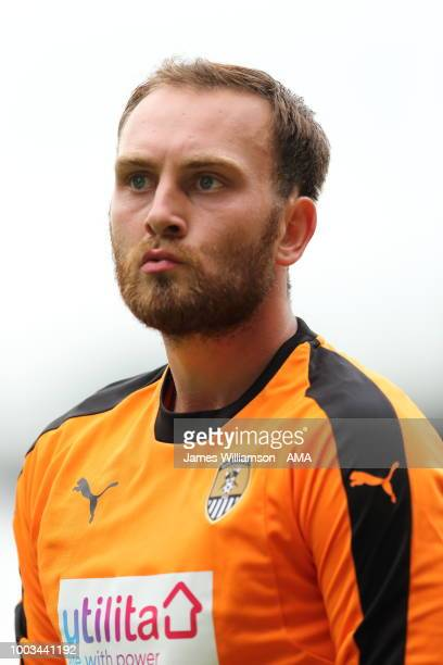 Ross Fitzsimons of Notts County during the preseason match between Notts County and Leicester City at Meadow Lane on July 21 2018 in Nottingham...