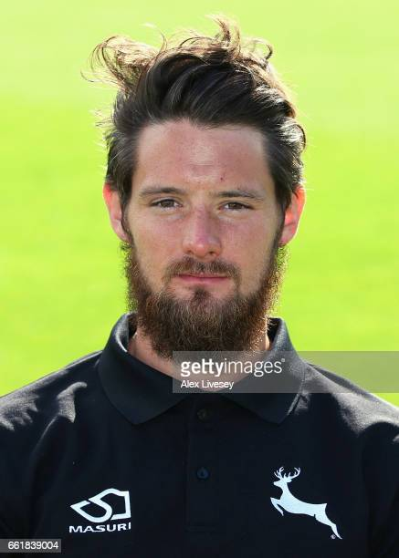 Ross Herridge of Nottinghamshire CCC poses for a portrait during the Nottinghamshire CCC Photocall at Trent Bridge on March 31 2017 in Nottingham...