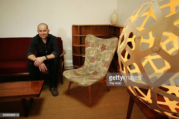 Ross Hines of Tongue 'n' Groove with vintage furniture on 4th May 2006 THE AGE DOMAIN Picture by RODGER CUMMINS