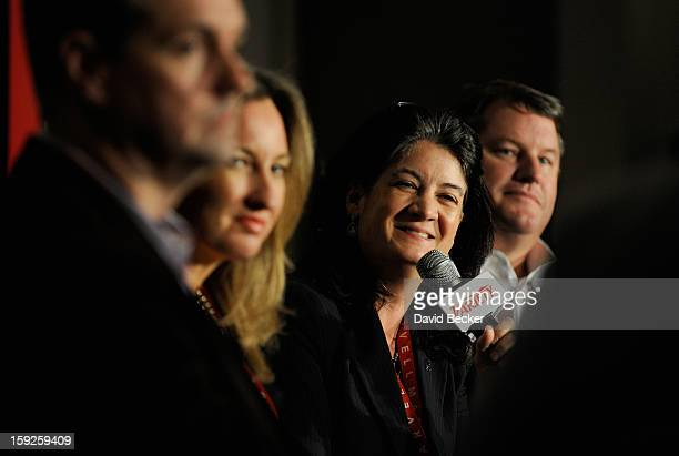 Ross Honey Tonia O'Connor Joan Hogan Gillman and David Rudnick appear onstage during Variety Entertainment Summit at The 2013 International CES at...