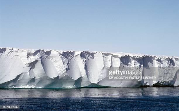 Ross ice shelf ice shelf in the Ross Sea Antarctica