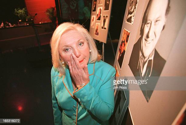 Ross June 21 2001 Sara Waxman stands infront of numerous photophraphs of her late husband Al Waxman at CBC headquarters The CBC is celebrating the...