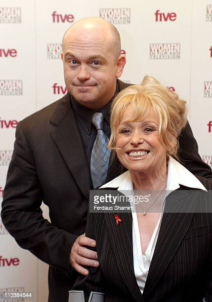 Ross Kemp and Barbara Windsor during 2003 Women In Film And Television Awards at The London Hilton in London Great Britain