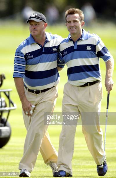 Ross Kemp and Bradley Walsh during The Northern Rock All Star Charity Gala Golf Tournament Day 1 at Celtic Manor Resort in Newport Great Britain