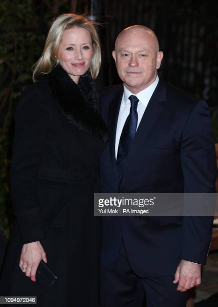 Ross Kemp and his wife Renee O'Brien arrive at the annual Endeavour Fund Awards at Drapers' Hall London which will also be attended by the Duke and...