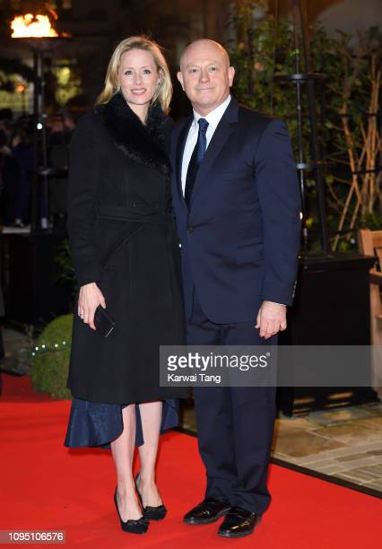 Ross Kemp and Renee O'Brien attend the Endeavour Fund Awards at Drapers Hall on February 7 2019 in London England