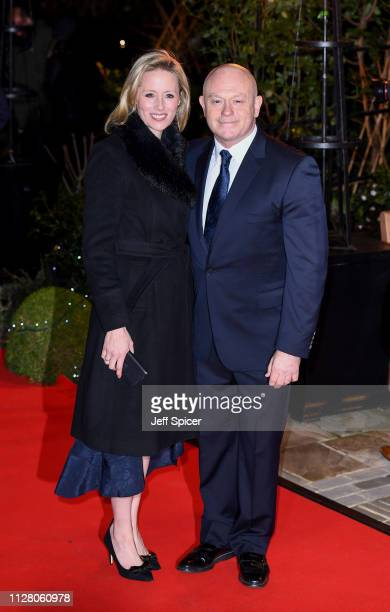 Ross Kemp and Renee O'Brien attend the Endeavour Fund awards at Drapers' Hall on February 07 2019 in London England