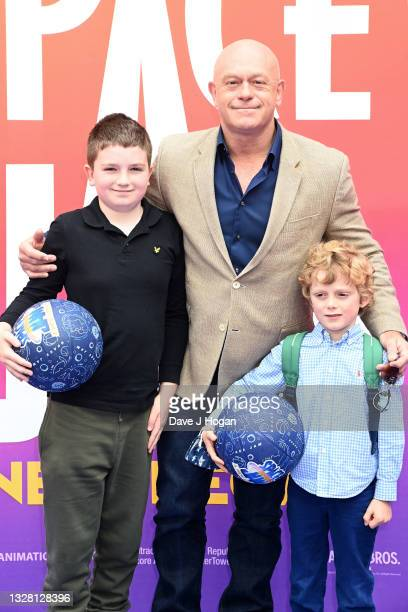 """Ross Kemp and sons Oliver and Leo attend a special screening of """"SPACE JAM: A NEW LEGACY"""" in cinemas 16th July at Cineworld Leicester Square on July..."""