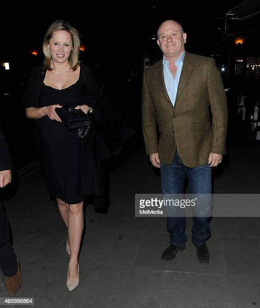 Ross Kemp and wife Renee O'Brien enjoy date night at The Chiltern Firehouse on March 11 2015 in London England