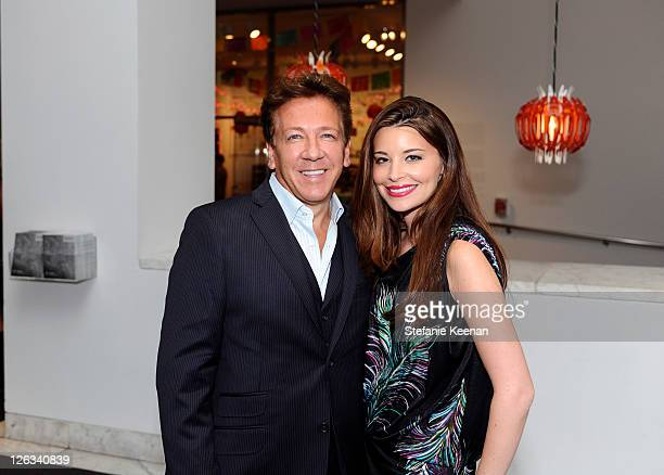 Ross King and Brianna Deutsch attend the Hammer Museum gala in the garden on September 24 2011 in Westwood California