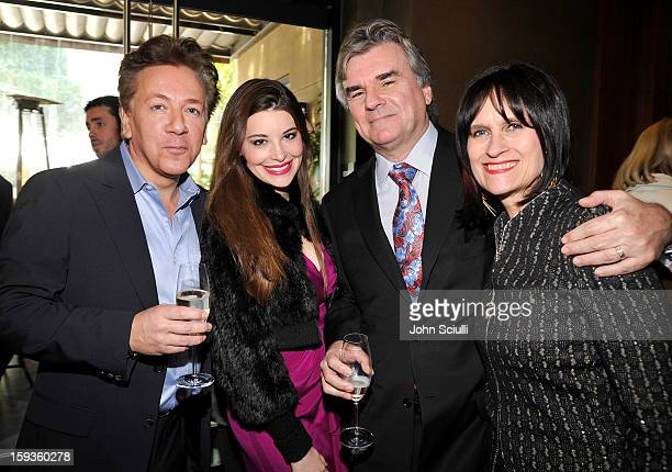 Ross King Brianna Deutsch Bob Peirce and Sharon Harroun Peirce attend a Golden Globe lunch hosted by BritWeek chairman Bob Peirce honoring Julian...