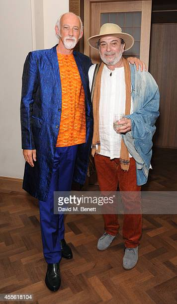 Ross Lovegrove and Behirouz Behnejad attends the STANDSEVEN party hosted by David Adjaye and Ross Lovegrove at The Club at Cafe Royal on September 17...