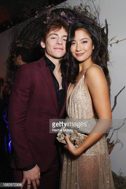 Ross Lynch and Adeline Rudolph attend Netflix Original Series Chilling Adventures of Sabrina red carpet and premiere event on October 19 2018 in Los...