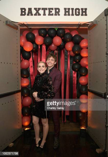 Ross Lynch and Kiernan Shipka attend Netflix Original Series Chilling Adventures of Sabrina red carpet and premiere event on October 19 2018 in Los...
