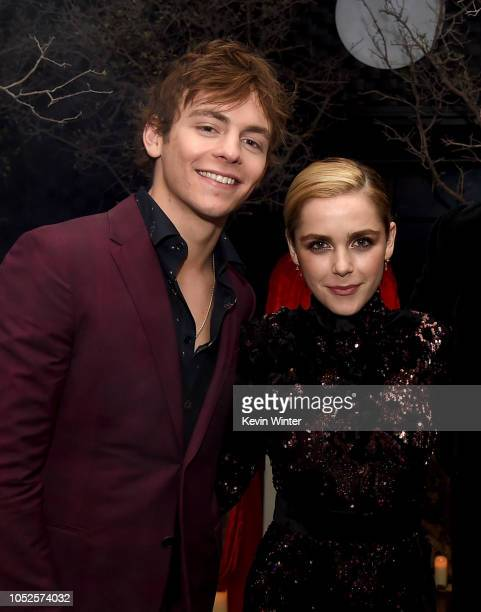 Ross Lynch and Kiernan Shipka attend the after party for the premiere of Netflix's Chilling Adventures Of Sabrina at the Hollywood Athletic Club on...