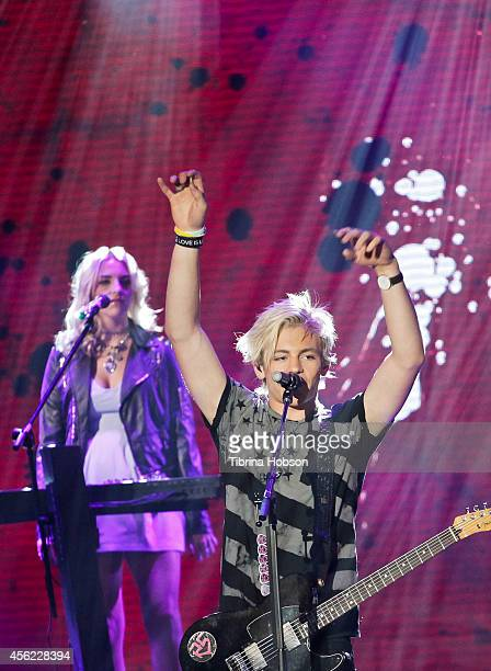 Ross Lynch and Rydel Lynch of R5 perform at the 2014 MDA show of strength telethon at the Hollywood Palladium on May 13 2014 in Hollywood California