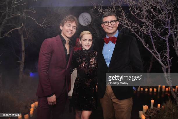 Ross Lynch Kiernan Shipka and Roberto AguirreSacasa attends Netflix Original Series Chilling Adventures of Sabrina red carpet and premiere event on...
