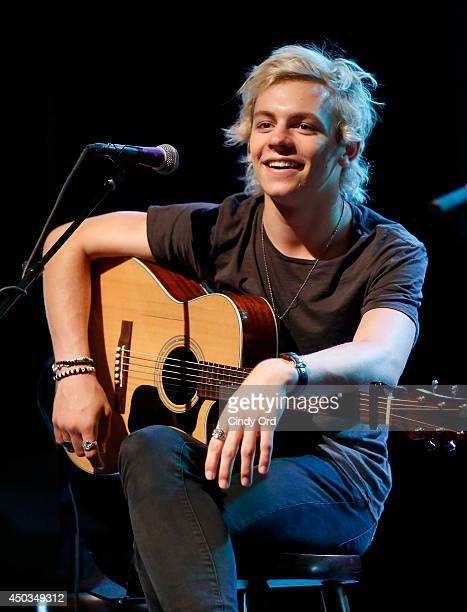 Ross Lynch of R5 participates in a soudcheck at Pop/Rock Sensation R5 and Ring Pop Premiere #RockThatRock Music Video at Gramercy Theatre on June 9...