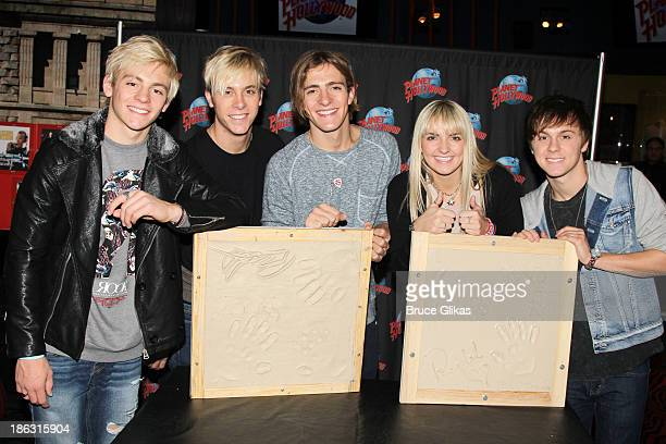 Ross Lynch Riker Lynch Rocky Lynch Rydel Lynch and Ellington Lee Ratliff of the band R5 promote thier new album 'Louder' at Planet Hollywood Times...