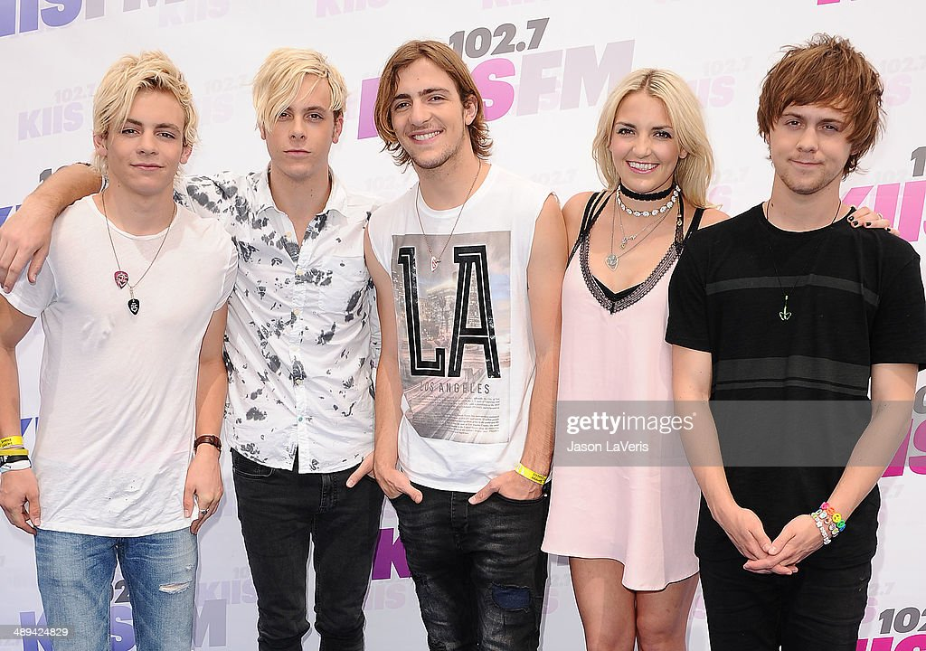 Ross Lynch, Riker Lynch, Rocky Lynch, Rydel Lynch and Ellington Ratliff of the band R5 attend 102.7 KIIS FM's 2014 Wango Tango at StubHub Center on May 10, 2014 in Los Angeles, California.