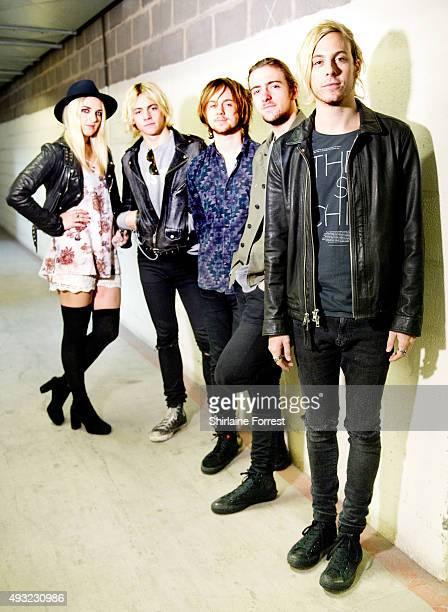 Ross Lynch Riker Lynch Rocky Lynch Rydel Lynch and Ellington Ratliff of R5 pose backstage before meeting fans and signing copies of their new album...