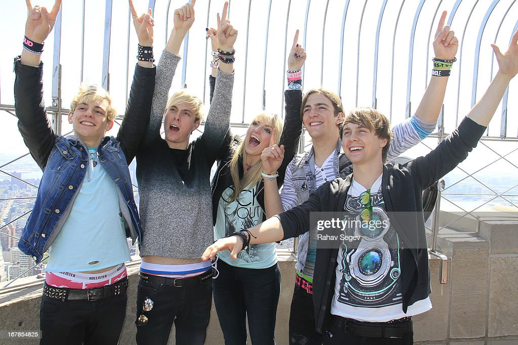 Ross Lynch, Riker Lynch, Rydel Lynch, Rocky Lynch and Ellington Ratliff of R5 visit The Empire State Building on May 1, 2013 in New York City.