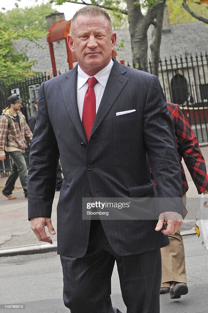 Ross Mandell, former chief executive officer and founder of Sky Capital Holdings Ltd., enters federal court for sentencing in New York, U.S., on Thursday, May 3, 2012. Mandell is being sentenced on charges related to a scheme to defraud investors through two successive securities broker-dealers and faces up to 65 years in prison and more than $5 million in fines. Photographer: Louis Lanzano/Bloomberg via Getty Images