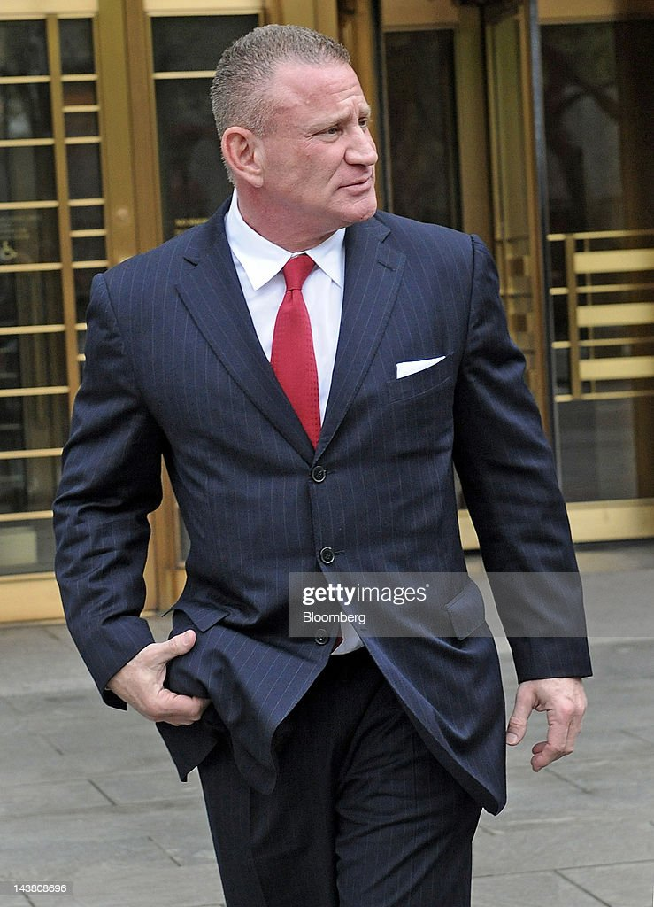 Ross Mandell, former chief executive officer and founder of Sky Capital Holdings Ltd., exits federal court in New York, U.S., on Thursday, May 3, 2012. Mandell was sentenced to 12 years in prison for operating what prosecutors alleged was an eight-year scheme that defrauded investors of $140 million. Photographer: Louis Lanzano/Bloomberg via Getty Images