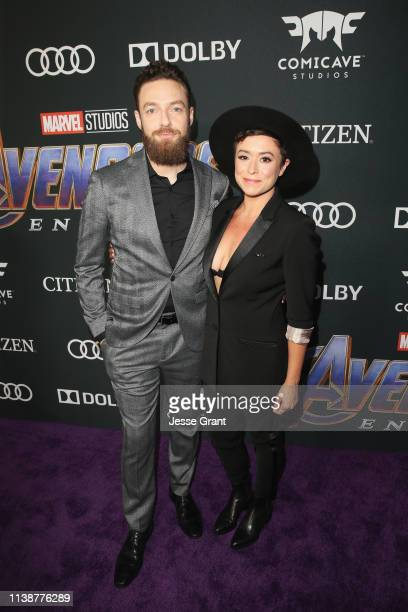 Ross Marquand and Briana Venskus attend the Los Angeles World Premiere of Marvel Studios' Avengers Endgame at the Los Angeles Convention Center on...