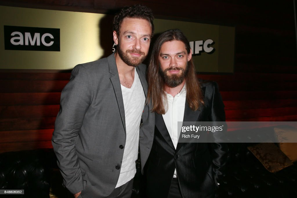 Ross Marquand (L) and Tom Payne attend the AMC Networks 69th Primetime Emmy Awards After-Party Celebration at BOA Steakhouse on September 17, 2017 in West Hollywood, California.
