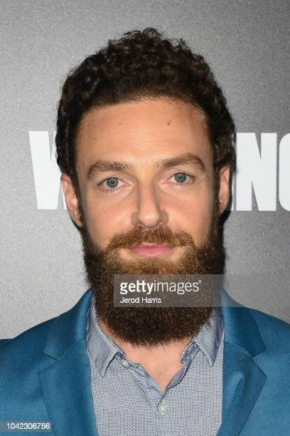 Ross Marquand arrives at the Premiere Of AMC's 'The Walking Dead' Season 9 at the DGA Theater on September 27 2018 in Los Angeles California