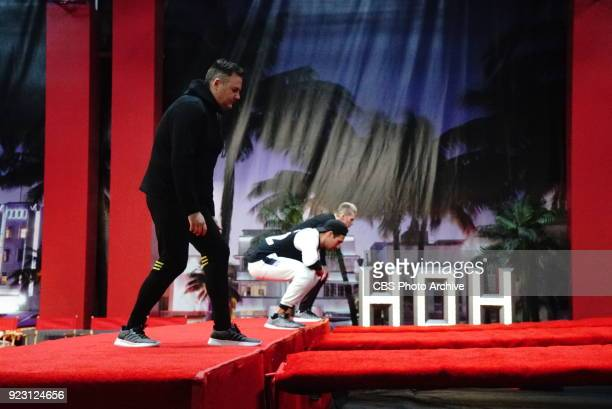 EDITION Ross Mathews James Maslow and Mark McGrath playing the HOH competition 'Red Carpet' on Wednesday Feb 21 on the firstever celebrity edition of...