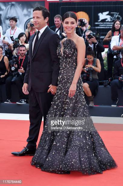 Ross McCall and Alessandra Mastronardi walkthe red carpet ahead of the Opening Ceremony and the La Vérité screening during the 76th Venice Film...
