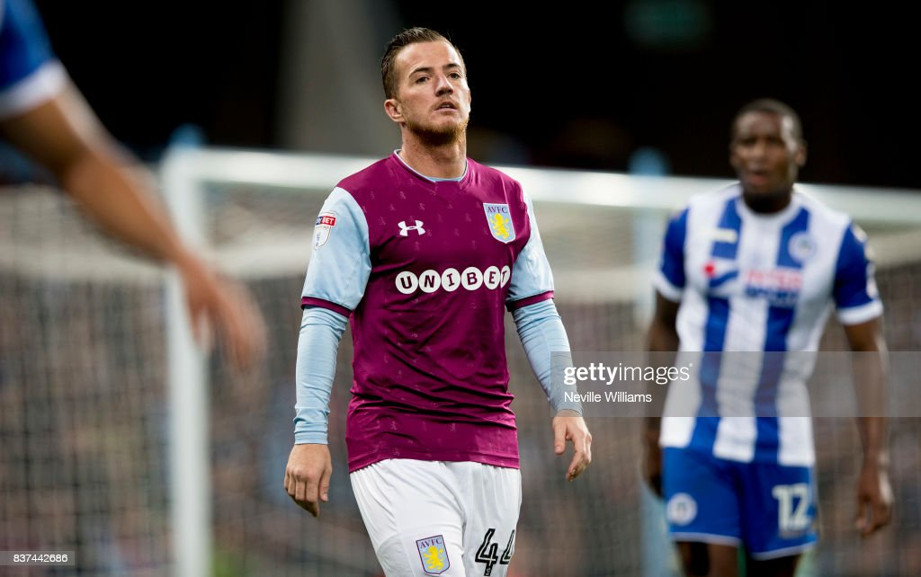 Ross McCormack of Aston Villa during the Carabao Cup Second Round match between Aston Villa and Wigan Athletic at the Villa Park on August 22, 2017 in Birmingham, England.