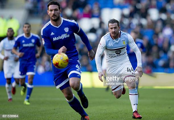 Ross McCormack of Aston Villa during the Sky Bet Championship match between Cardiff City and Aston Villa at the Cardiff City Stadium on January 02,...
