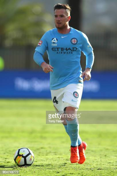 Ross McCormack of City in action during the round 16 ALeague match between the Central Coast Mariners and Melbourne City at Central Coast Stadium on...