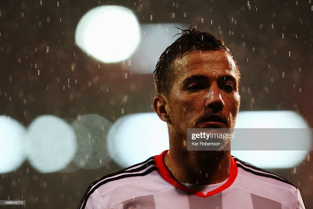 Ross McCormack of Fulham is seen during the Sky Bet Championship match between Fulham and Huddersfield Town at Craven Cottage on November 8, 2014 in London, England.