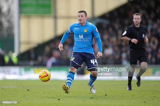 Ross McCormack of Leeds United during the Sky Bet Championship match between Yeovil Town and Leeds United at Huish Park on February 08 2014 in Yeovil...